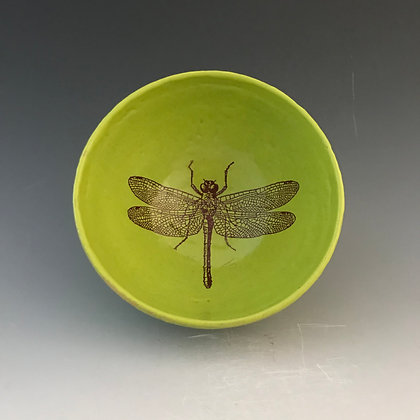 dragonfly bowl in chartreuse