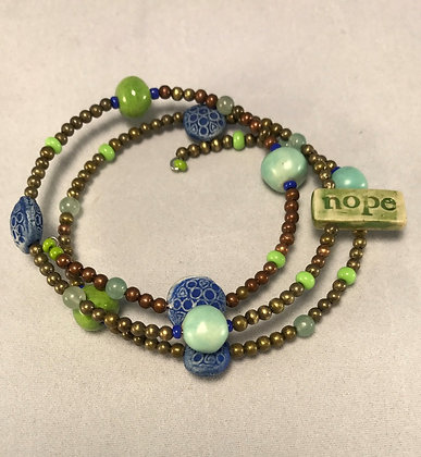 Nope Wrap Bracelet in Green