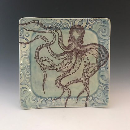 square octopus plate