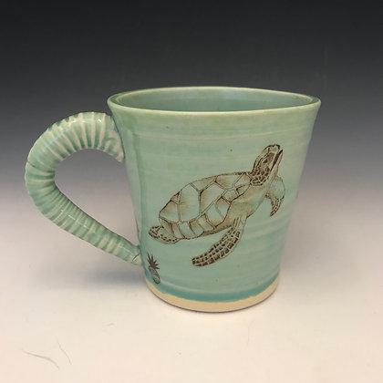 swimming turtles mug