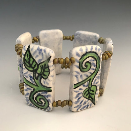 hand painted vine bracelet