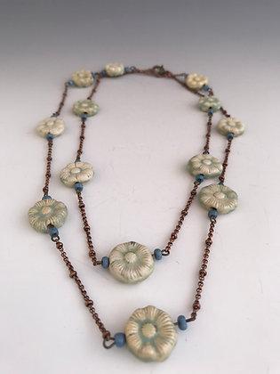 seafoam strand necklace