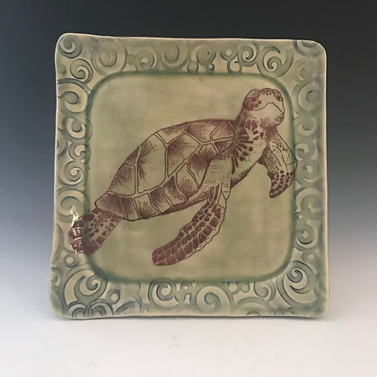 square turtle plate