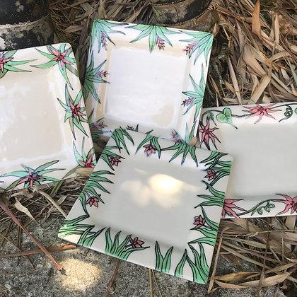 tropical plates set