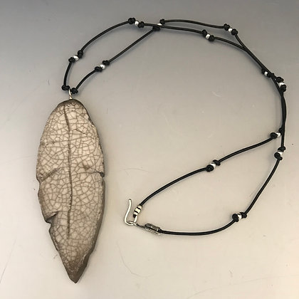 crackled leaf necklace