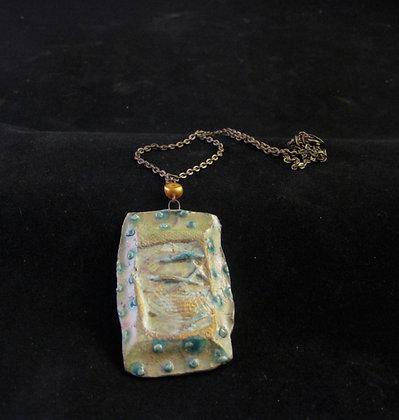 celedon & green pendant