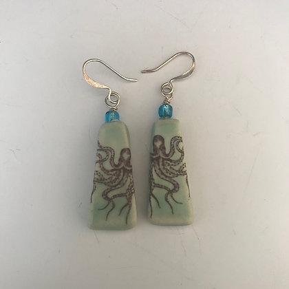 tapered octopus earrings