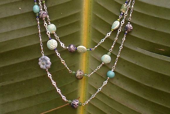Multi strand JAZ necklace