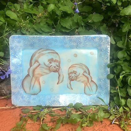 blue manatee tray