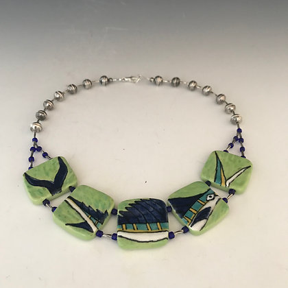 painted sailfish necklace