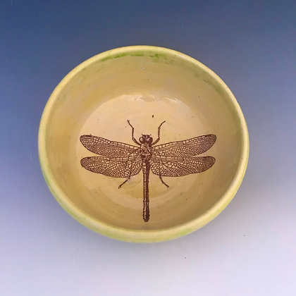 dragonfly bowl in yellow