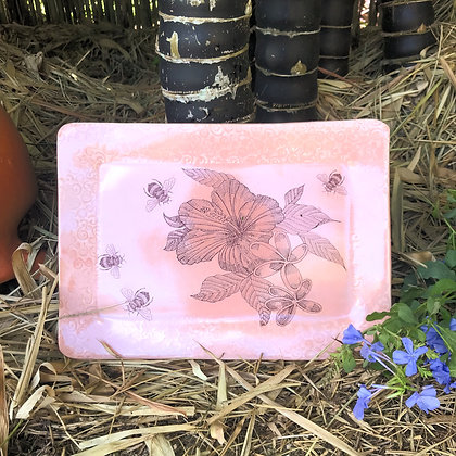 hibiscus tray in pink