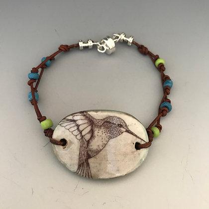 hummingbird leather bracelet