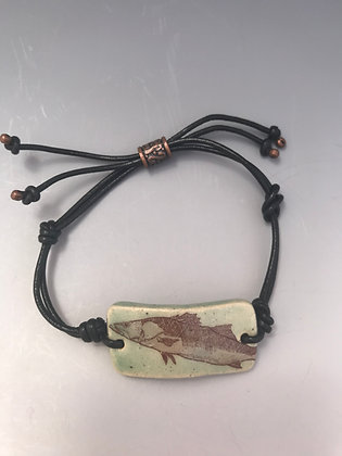snook leather bracelt