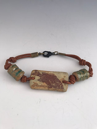 snapper leather bracelet