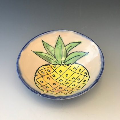 painted pineapple bowl