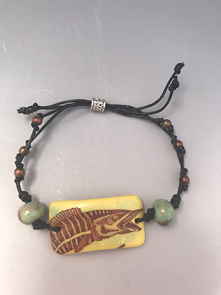wahoo leather bracelet
