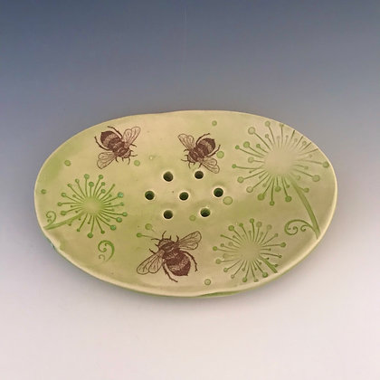 busy bees soap dish