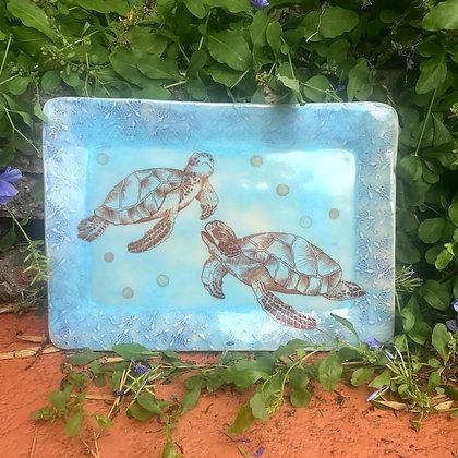 blue turtle tray