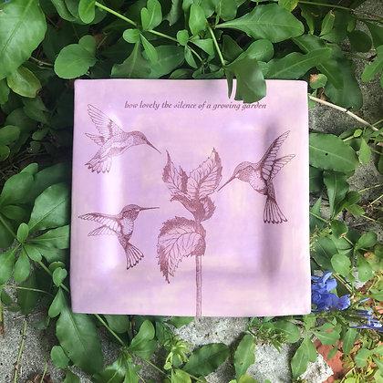 lavender garden plate