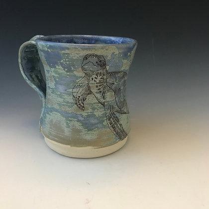 turtle mug in blues