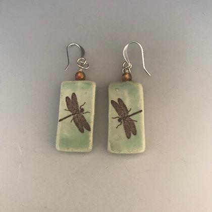 aqua dragonfly earrings