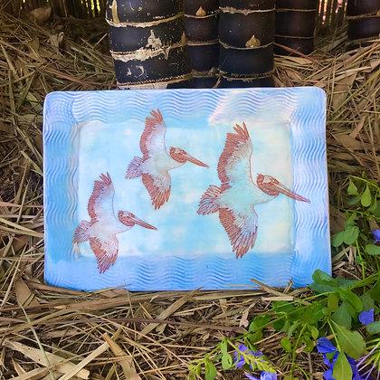three pelicans tray