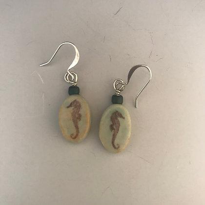 oval seahorse earrings