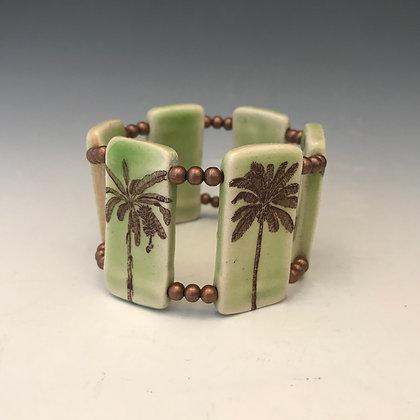 palm tree stretch bracelet