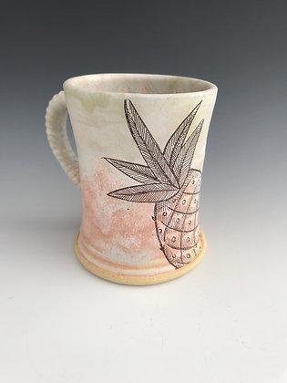 pink pineapple mug