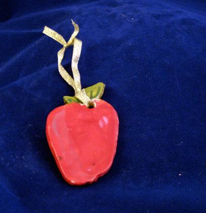 ripe apple ornament