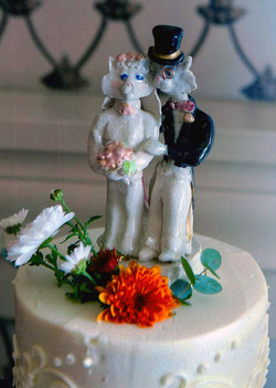 Royal cats cake topper