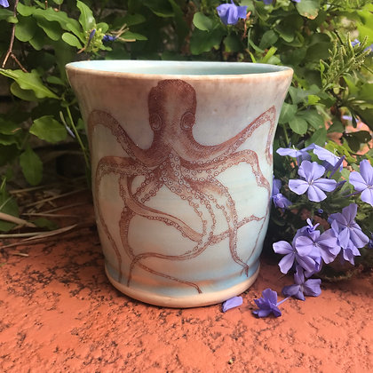 large octopus mug