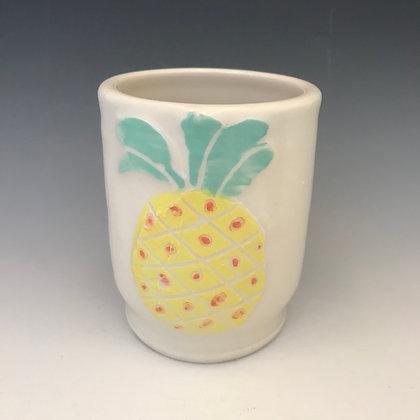 yellow pineapple mug