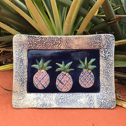 hand painted pineapples
