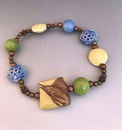 sailfish stretch bracelet in yellow