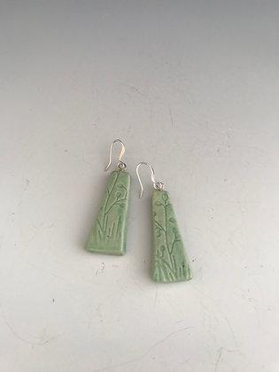 embossed cerulean earrings