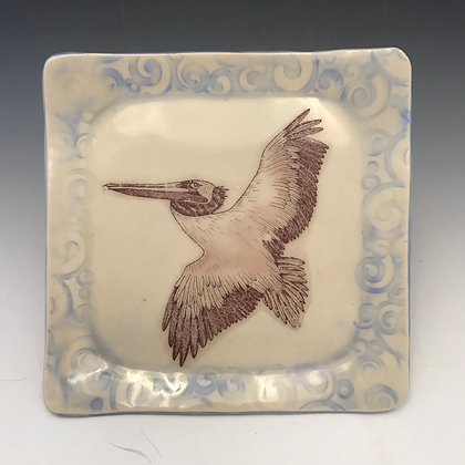 square lying pelican plate