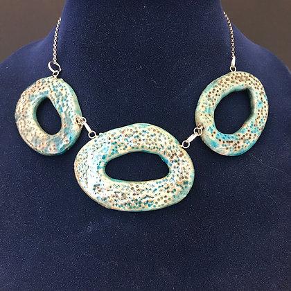 raku disc necklace