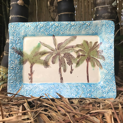 palm treed tray