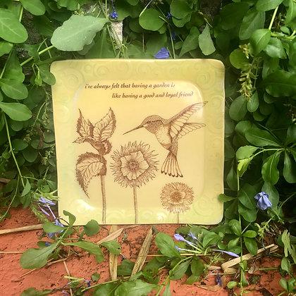 yellow garden plate