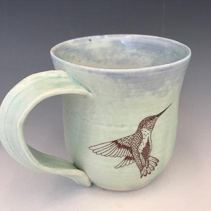 aqua hummingbirds mug