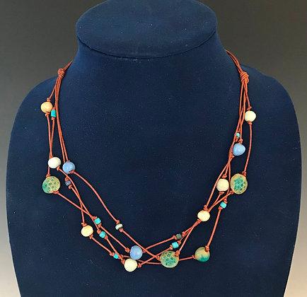 blue & green jazz necklace