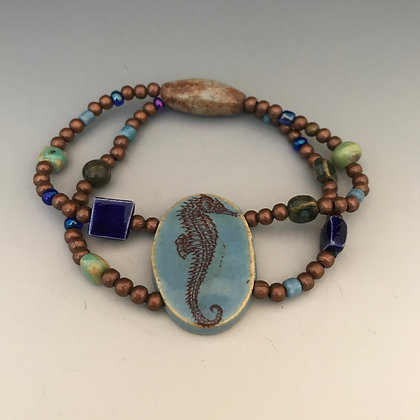 sea horse double stretch bracelet