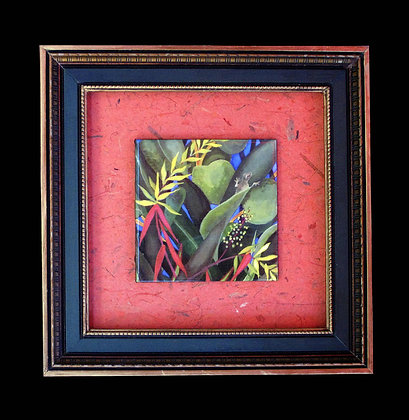 heliconia tile painting