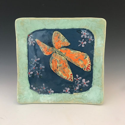 painted butterfly plate