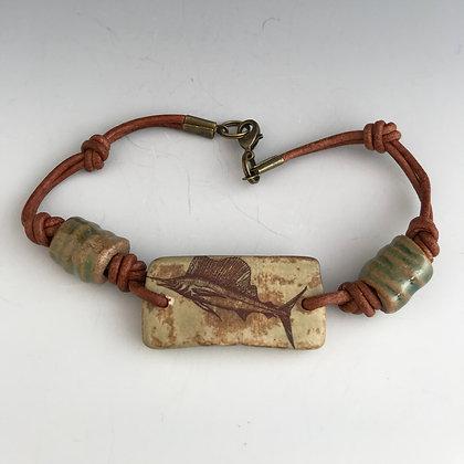sailfish bracelet in browns