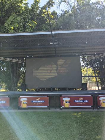 Darwin's Biggest Permanent Outdoor Screen @ the PINTs