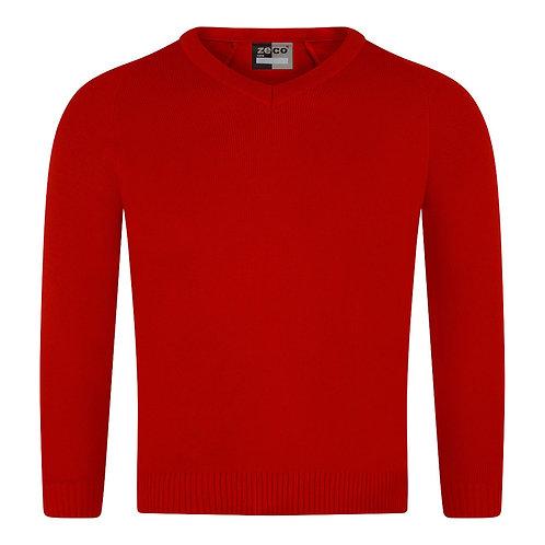 Longhorsley Knitted V-Neck Jumper