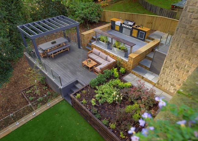 Terraced Outdoor Living Design